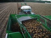Der Kartoffelroder von oben
